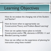 Summary of Designing Instruction Using a Variety of 1:1 Computing Models