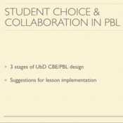 Student Choice and Collaboration in PBL