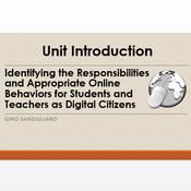 """Introduction to """"Create a Safe Environment Adhering to Appropriate Online Behavior"""""""