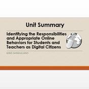 """Summary of """"Identifying the Responsibilities and Appropriate Online Behaviors for Students and Teach"""