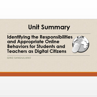 "Summary of ""Identifying the Responsibilities and Appropriate Online Behaviors for Students and Teach"