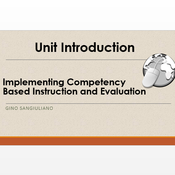 """Introduction to """"Plan Competency-Based Instruction that Aligns to Content and Technology Standards"""""""
