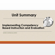 "Summary of ""Plan Competency-Based Instruction that Aligns to Content and Technology Standards"""