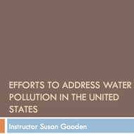 Efforts to address water pollution in the United States