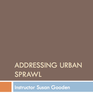 Addressing Urban Sprawl
