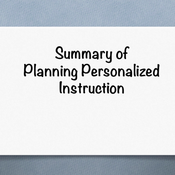 "Summary of ""Planning personalized instruction that leverages technology to increase engagement, moti"