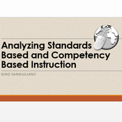 Analyze Standards Based and Competency Based Instruction