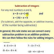 1.2 Subtracting Integers