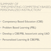 """Summary of """"Implementing Competency Based, Personalized Instruction"""""""