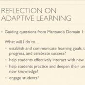 Reflection on Adaptive Learning
