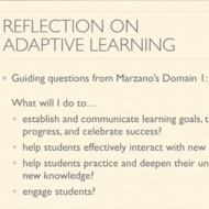 Reflection on Adaptive Learning
