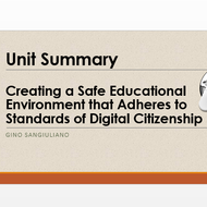 "Summary of ""Creating a safe educational environment that adheres to standards of digital citizenship"
