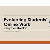 Evaluating students' online work