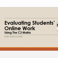 Evaluating students' online work