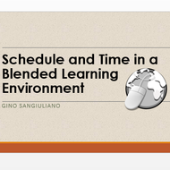 Schedule and Time in a Blended Learning Environment