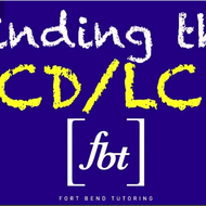 Find the LCD/LCM