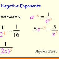 Law of Exponents: Zero and Negative Exponents