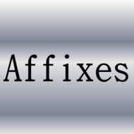 Using Affixes to Determine Meaning