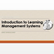 Introduction to Learning Management Systems