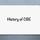 History of CBE