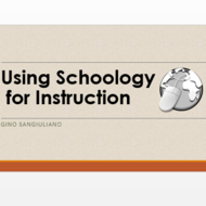 Using Schoology for Instruction