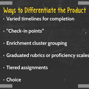 Differentiating Instruction: Product