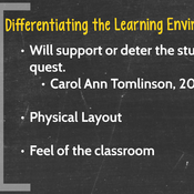 Differentiating Instruction: Environment