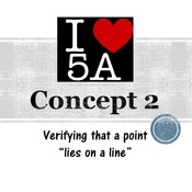 "Chapter 5a, Concept 2 - Verifying a point ""lies on a line"""