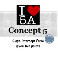 Chapter 5a, Concept 5 - Writing an equation given two points