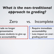 A Nontraditional Approach to Grading