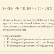 Three Principles of UDL