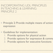 Incorporating UDL Principles in Teaching and Learning: Principle II