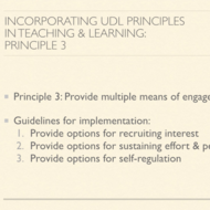 Incorporating UDL Principles in Teaching and Learning: Principle III