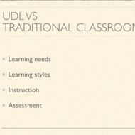 UDL Versus Traditional Classrooms