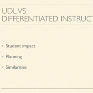 UDL Versus DI