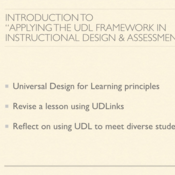 "Introduction to ""Applying the Universal Design for Learning (UDL) Framework in Instructional Design"""