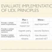 Reflecting on UDL: How UDL Lessons Meet the Needs of All Learners