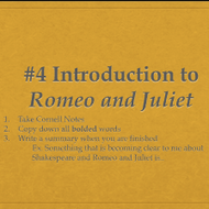 Intro to Romeo and Juliet