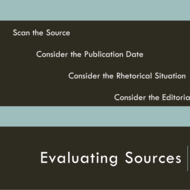 Evaluating Sources