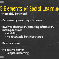 Social Learning Theory and Collaborative Teaching and Learning