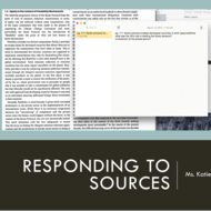 Responding to Sources