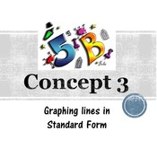 Chapter 5b, Concept 3 - Graphing Lines in Standard Form