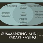Summarizing and Paraphrasing