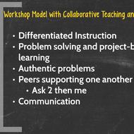 The Workshop Model and Collaborative Teaching and Learning