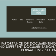 The Importance of Documenting and Different Documentation/Formatting Styles