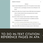 How to Do In-Text Citation and Reference Pages in APA