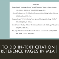 In-Text Citation and Reference Pages in MLA