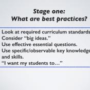 Developing instruction using Understanding by Design