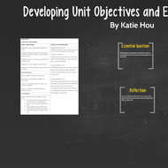 Developing Unit Objectives and Essential Questions