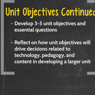 "Introduction to  ""Developing Unit Objectives that Integrate Technology within Instruction"""